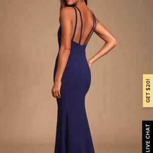 DREAM ABOUT YOU NAVY BLUE BACKLESS MAXI DRESS